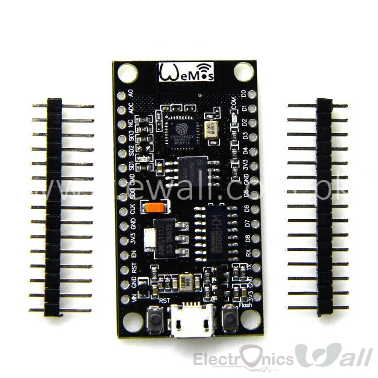 WeMos D1 5-9V USB NodeMcu Lua V3 CH340G ESP8266 Wireless Internet Development IOT