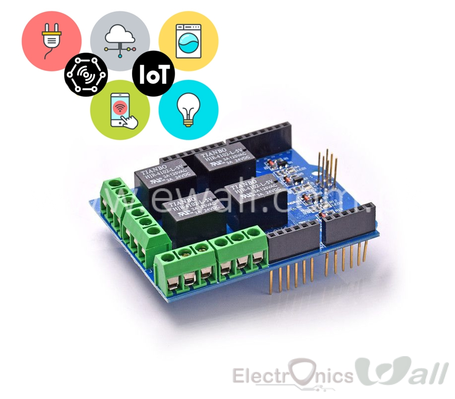 IOT Application 4 channel 5v Relay Arduino Shield Module Four Channel Expansion board