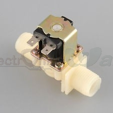 Water/Gas Flow Solenoid Valve Normally Closed (12V DC inlet valve)