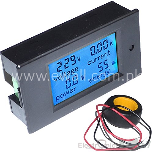 4 in 1 (Voltmeter Ammeter Power Energy)  AC 100A Digital LED Tester Meter Monitor