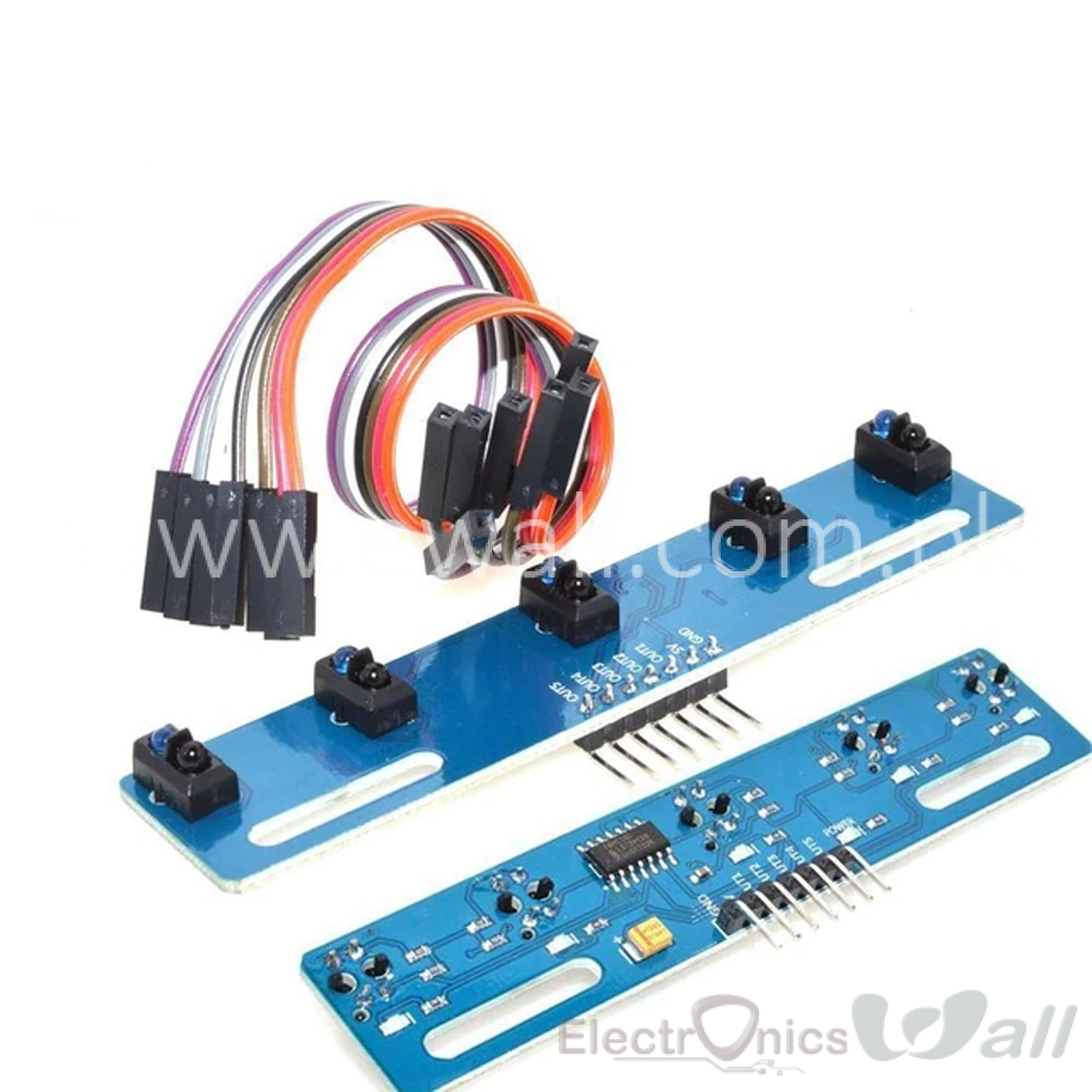 5-Ch way Line Tracking Infrared Sensor Board Module TCRT5000L for Line following Robot