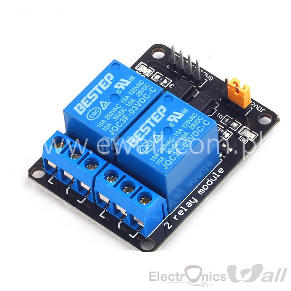 3.3V 2 Channel Relay Module for Low voltage Trigger