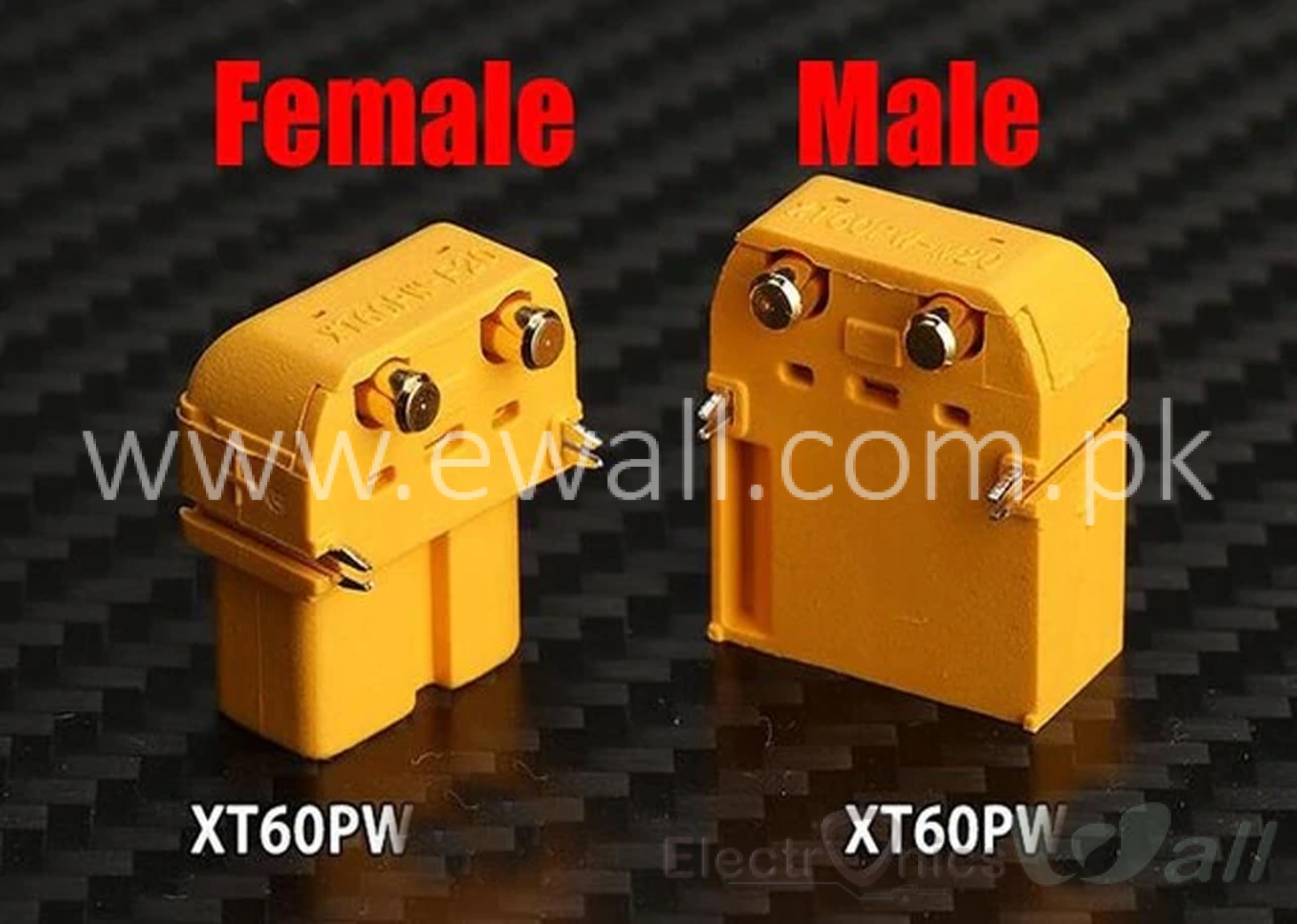 PCB Mounting XT60PW Male and Female (pair) Connector
