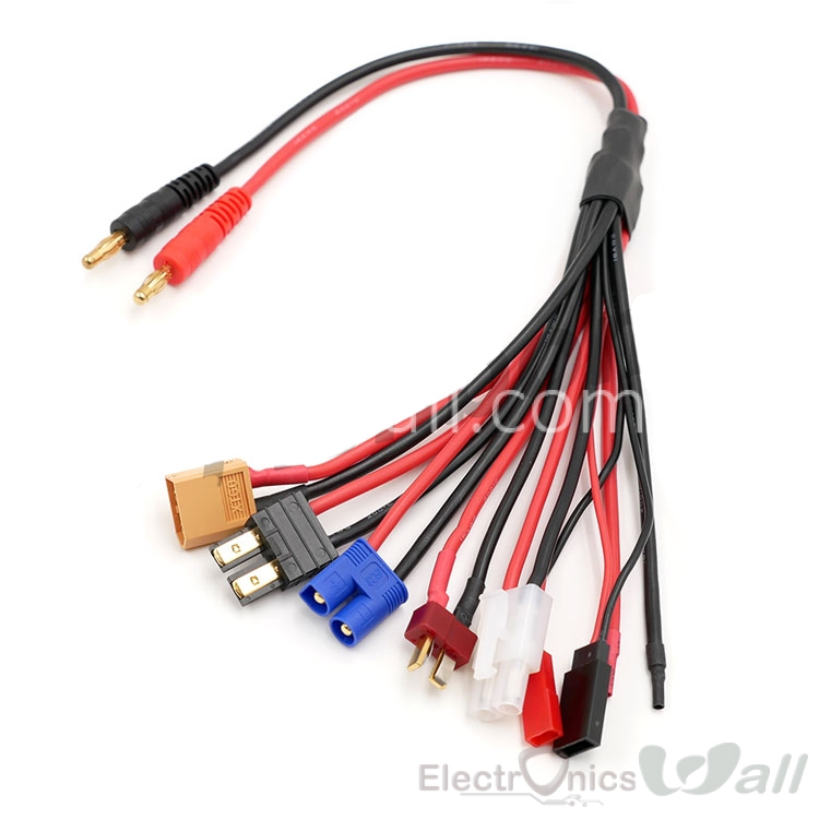 XT60 T-plug etc All Type Connector Converter Cable for Battery Charging Imax