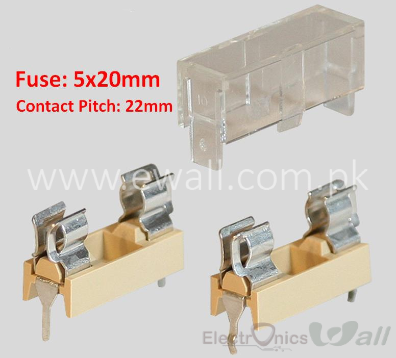 Fuse Holder PCB mount with Cover 5*20mm