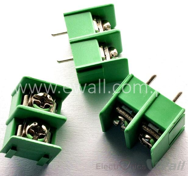 KF7.62 2Pin PCB Screw Terminal Block Connector KF7.62-2P pitch:7.62MM/0.3inch Green MG7.62 2Pins
