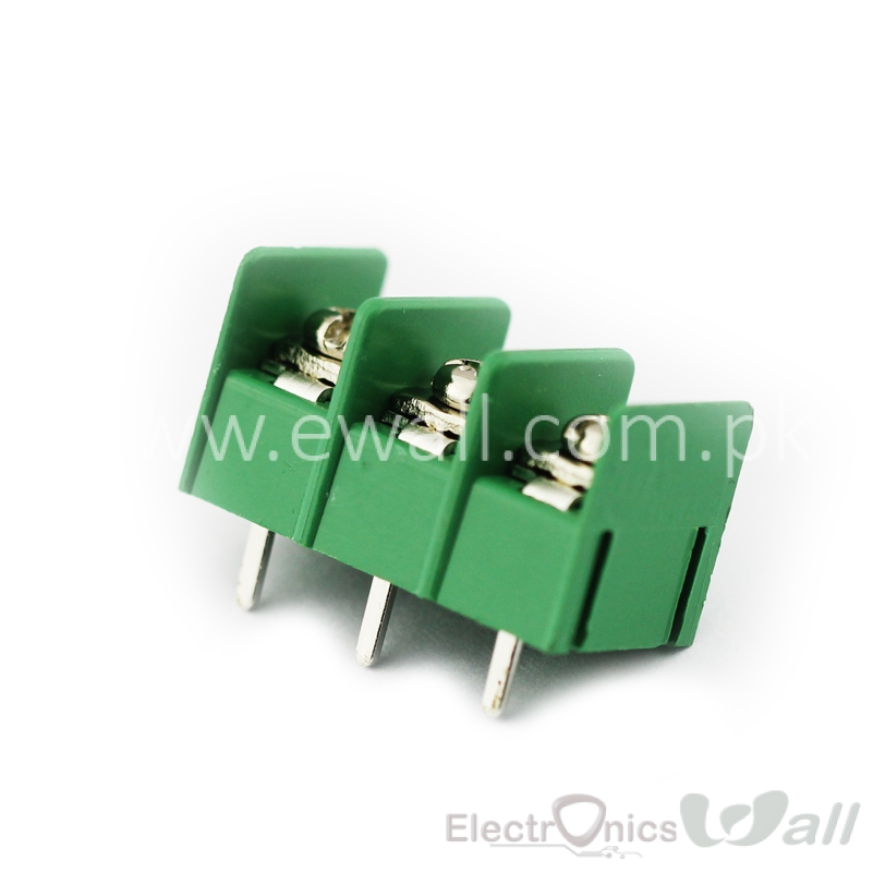 KF7.62 3Pin PCB Screw Terminal Block Connector KF7.62-3P pitch:7.62MM/0.3inch Green MG7.62 3Pins