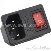 10A 250V Red Rocker Switch Power Socket Fuse Switch AC Socket