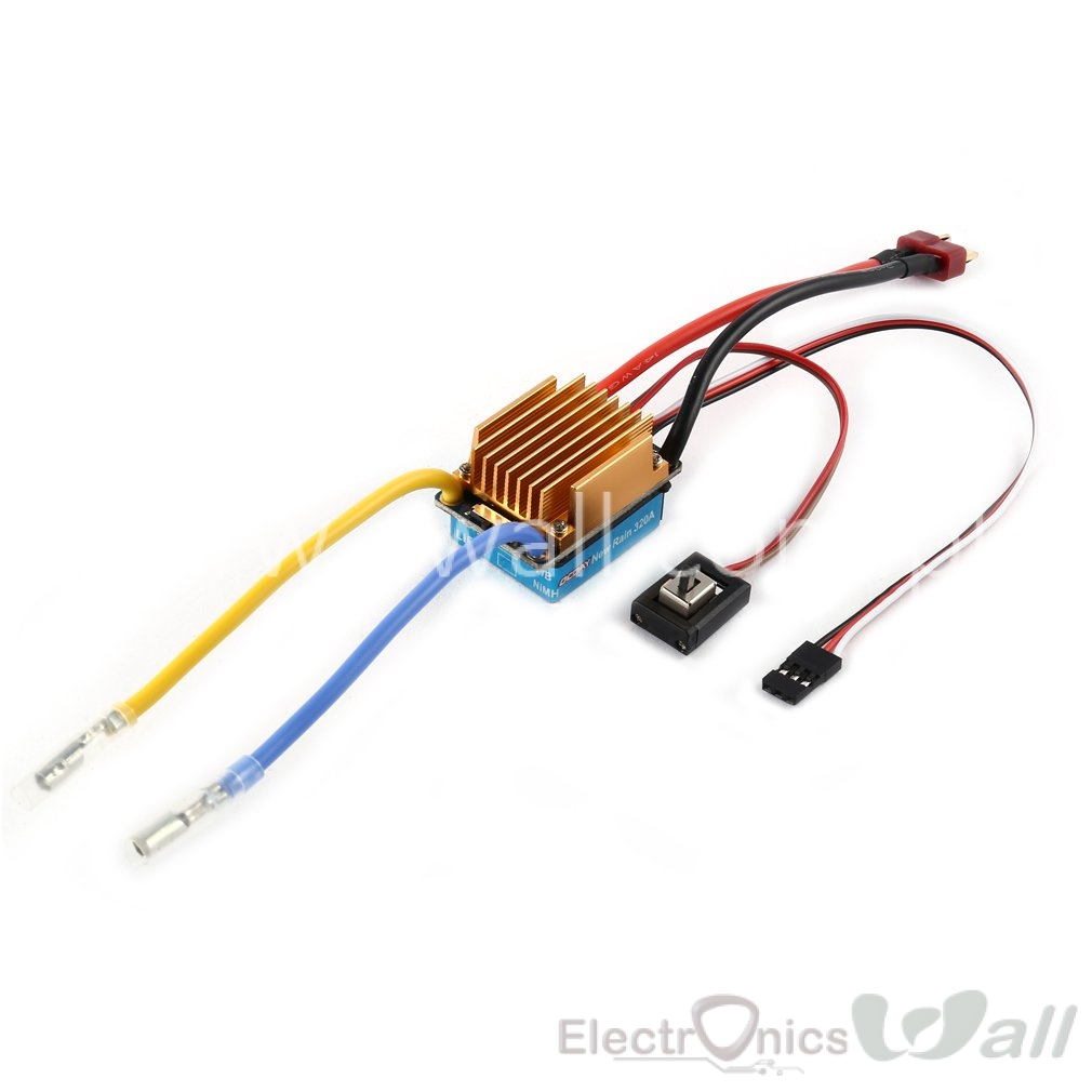 5-13V 60A OCDAY Waterproof 3S Brushed Motor ESC Electronic Speed Controller Without Fan For Tamiya 1/10 ESC RC Car