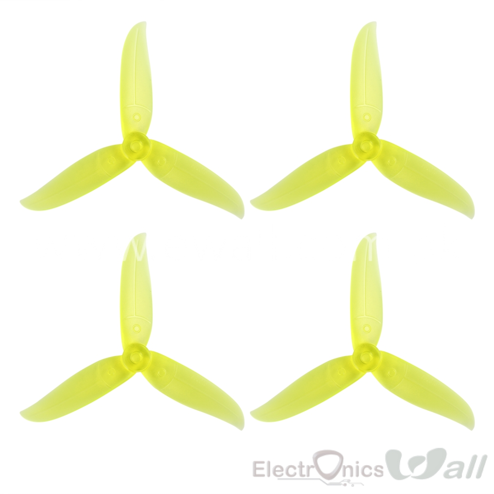 4pcs 5048 5x4.8 3 Blade Tri-blade Racing Propeller 5.0mm Mounting Hole for FPV Racer Hi-Speed Performance Faster Reaction 2 Pairs Yellows