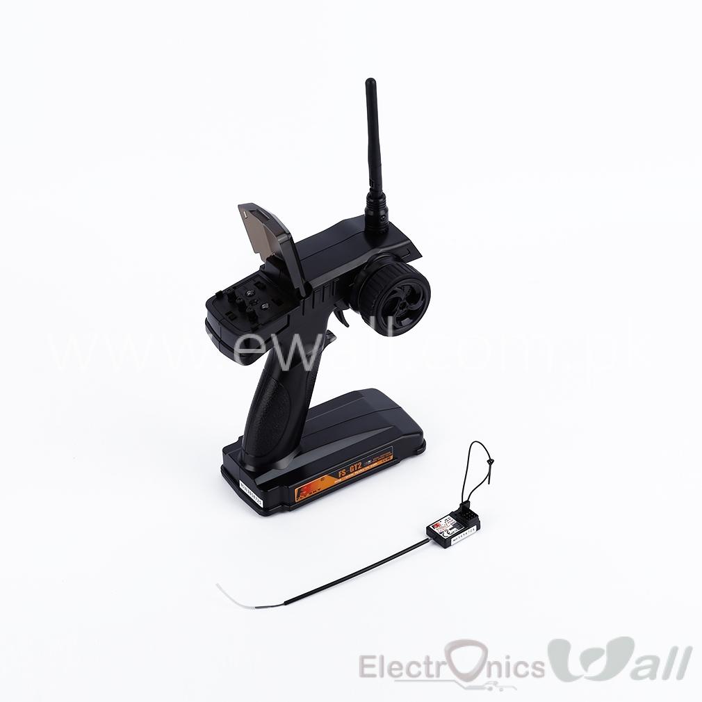 FlySky FS GT2 FS-GT2 2CH 2.4 GHz Radio Remote Control Transmitter and FS GR3B Receiver  FS GR3B