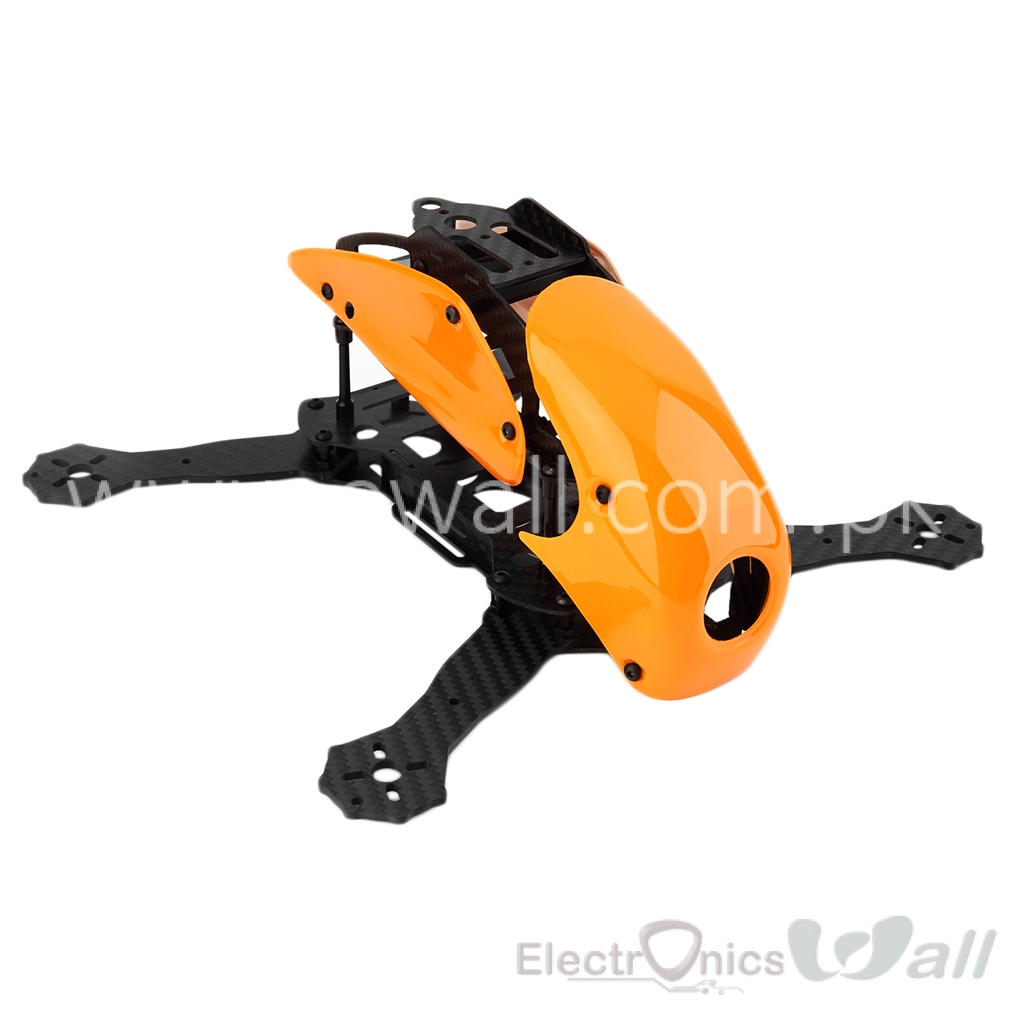 Robocat Carbon Fiber 4-axis Racing Mini Quadcopter Frame with Hood Cover for Qav250 FPV Rc Quadcopter Orange