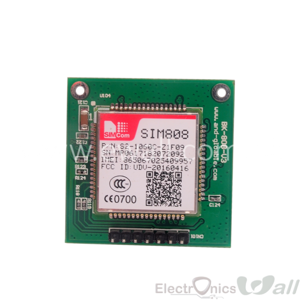 3 in 1 SIM808 GSM GPRS and Blutooth Board Module