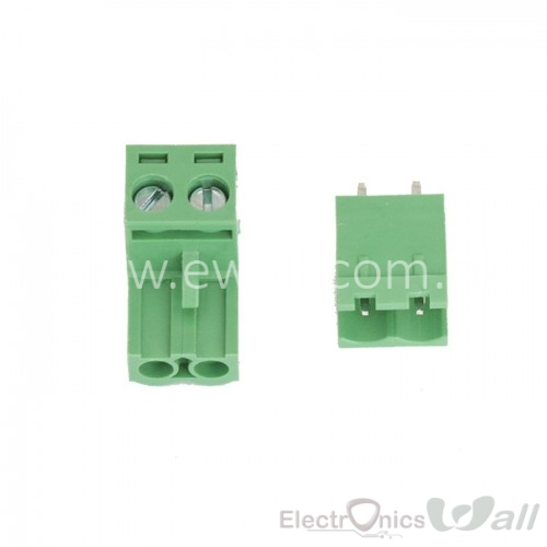 2EDG 5.08-2P Straight Pin Terminal Plug PCB Screw Terminal Block (Pair)