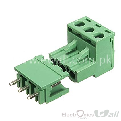 2EDG 5.08-3P Straight Pin Terminal Plug PCB Screw Terminal Block (pair)