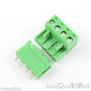 2EDG 5.08-4P Straight Pin Terminal Plug PCB Screw Terminal Block (pair)