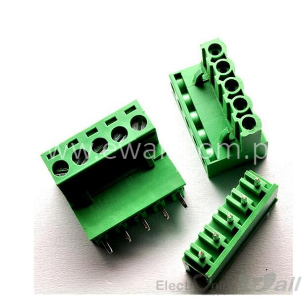 2EDG 5.08-5P Straight Pin Terminal Plug PCB Screw Terminal Block (Pair)