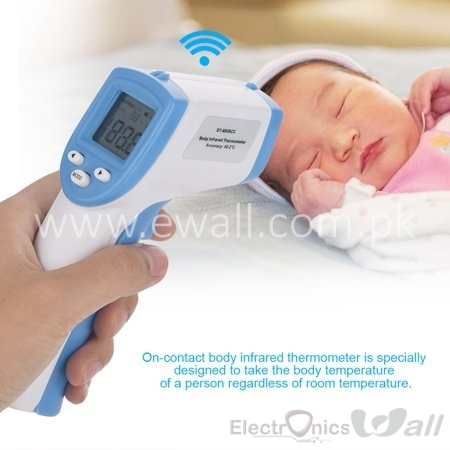 Baby Temperature Sensor Digital LCD Non-contact IR Infrared Thermometer Forehead Bod