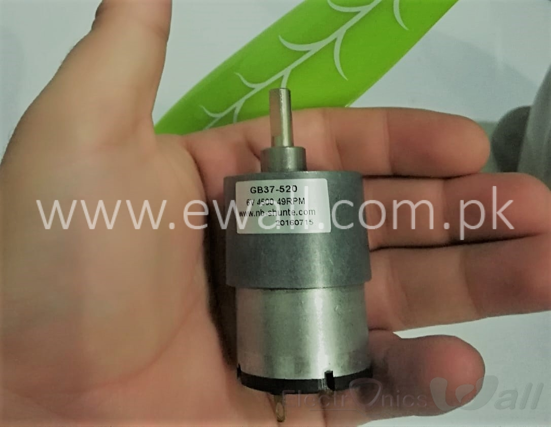 2.5Kg 6V 50RPM Electric Gearbox DC Gear Motor