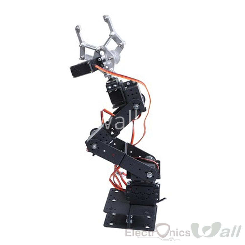 6 DOF 3D Rotating Metal Mechanical Manipulator Robot Arm Kit (With Servo) For Smart Car Arduino Robot Parts Teaching Platform