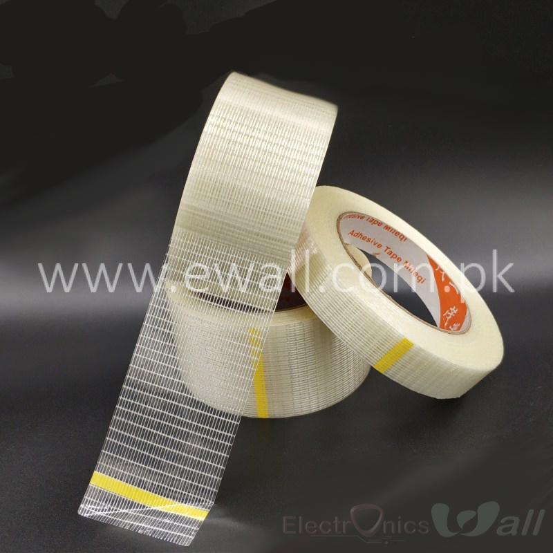 50mm Strongest Fiber Tape Transparent Tape Stripe 25meter for Lipo Battery Cells Holding and protection