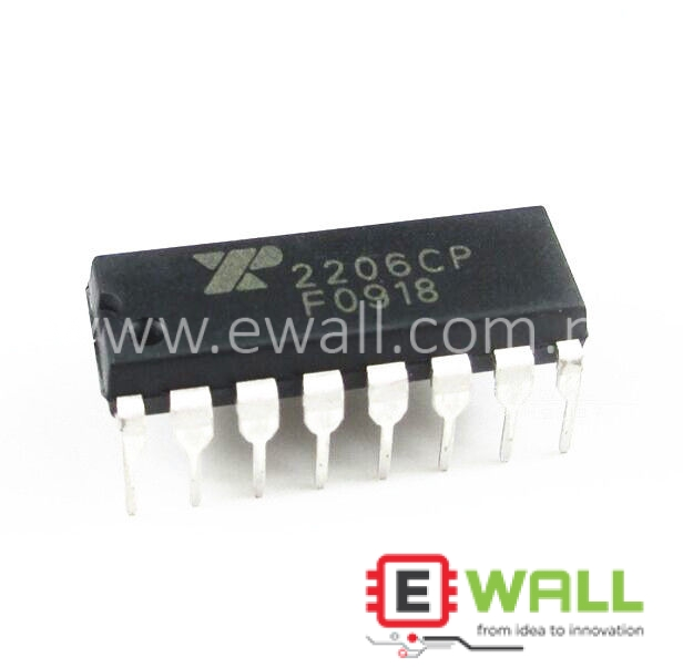XR-2206 EXAR Monolithic Function Generator 10V - 26V 14mA DIP-8 2206CP