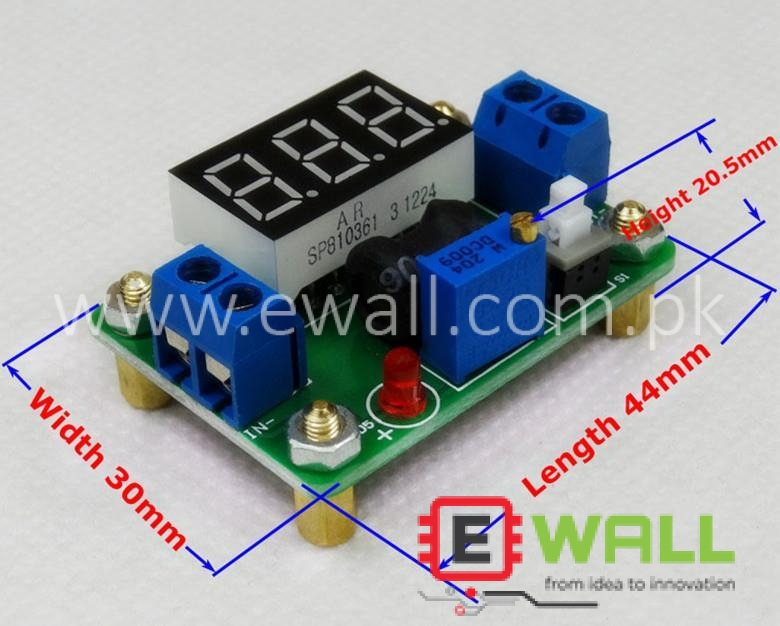 20W 4.5-24 to 0.93v-20V Voltage Regulator DC-DC Buck step down Power Converter with Voltmeter