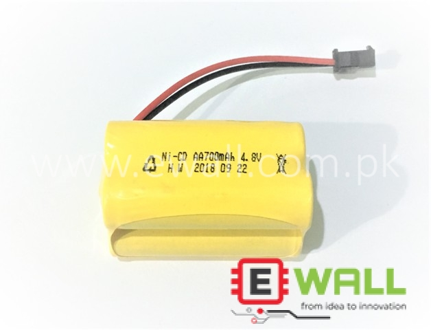 4.8V 700mAh Rechargeable Ni-Cd Battery