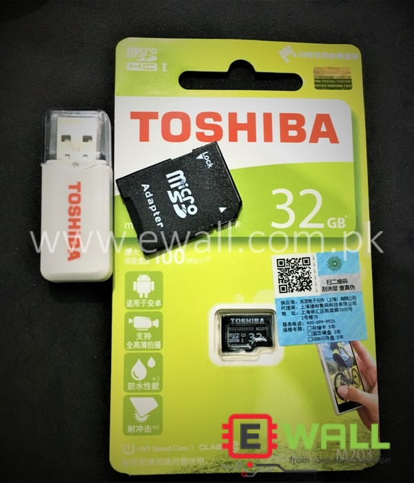 32GB SD PI Card with SD Reader and Jacket Toshiba Class 10 For Raspberry PI