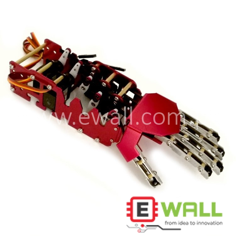 5DOF Metal Bionic Mechanical Robotic humanoid Hand (Left Hand) Already Assembled