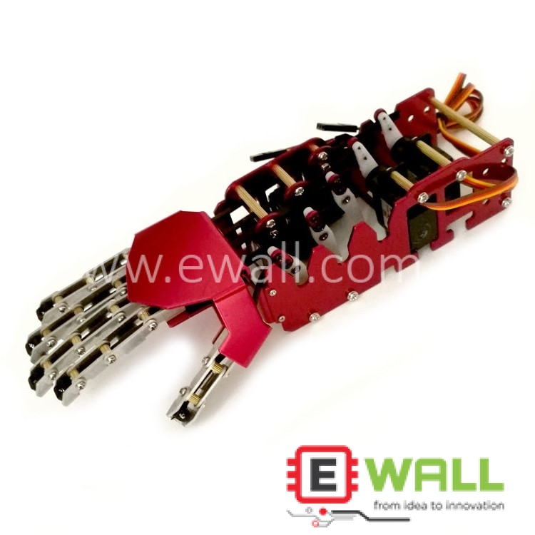 5DOF Metal Bionic Mechanical Robotic humanoid Hand (Right Hand) Already Assembled
