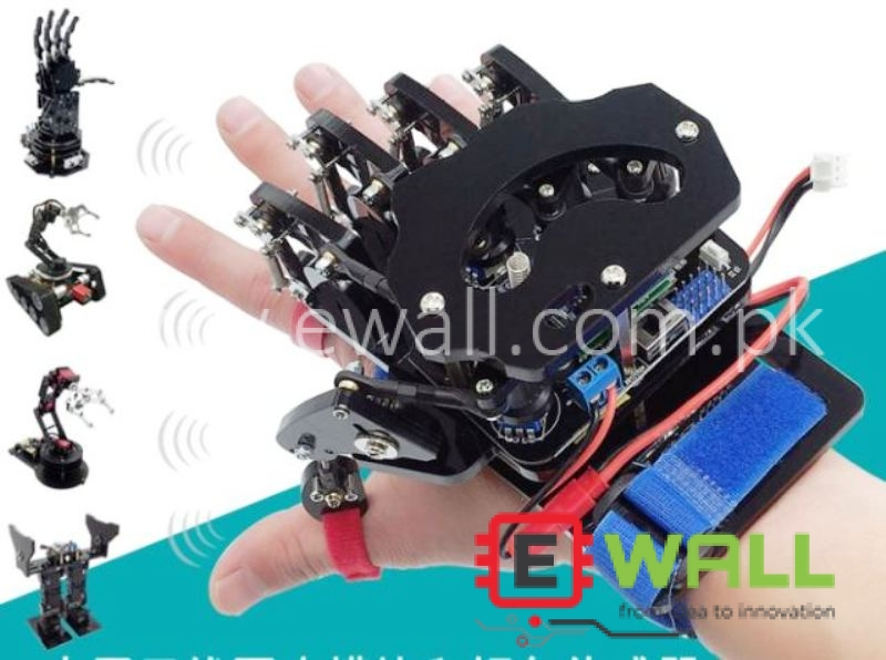 Open Source Mechanical Gloves / Wearable exoskeleton Hand sensor wireless Control Robot / Palm / Car - Already Assembled