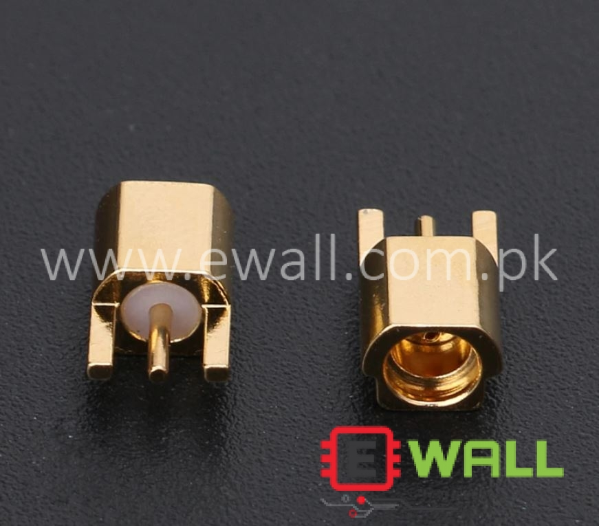 MMCX Female Jack Connector PCB Mount With Solder Straight Gold plated 3 Pins