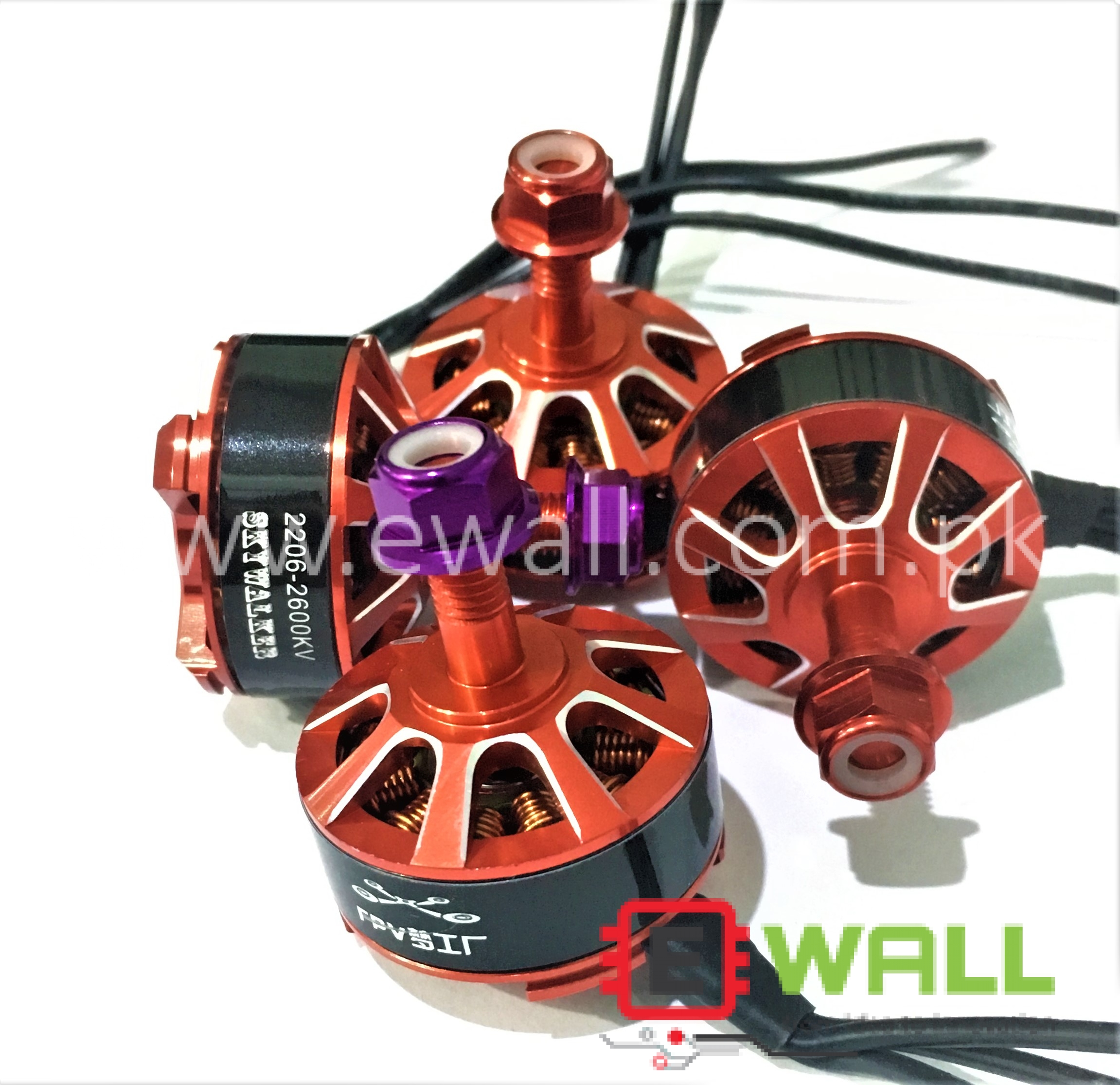 (4pcs set) Crossing Machine RC 2206 2600KV Motor Brushless Skywalker for FPV Racing Drone ( 2CCW+2CW)