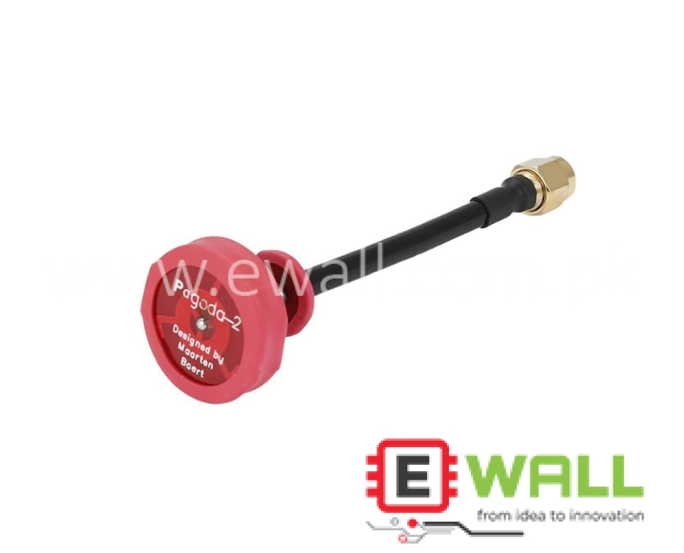 Pagoda Antenna 5.8Ghz FPV Red ( Inner needle) 80mm  For FPV