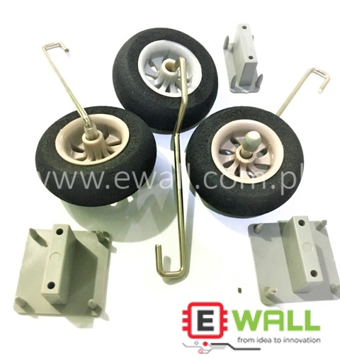3pcs General Landing Gear Kit 50mm For RC Plane models like  F16 F35 viper etc