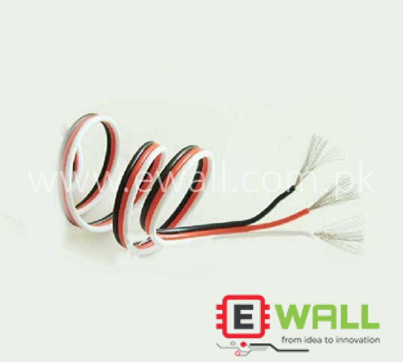 3P 3 Wire Softsilicon Cable for Servo Extension Cable 30 core (1 Meter)