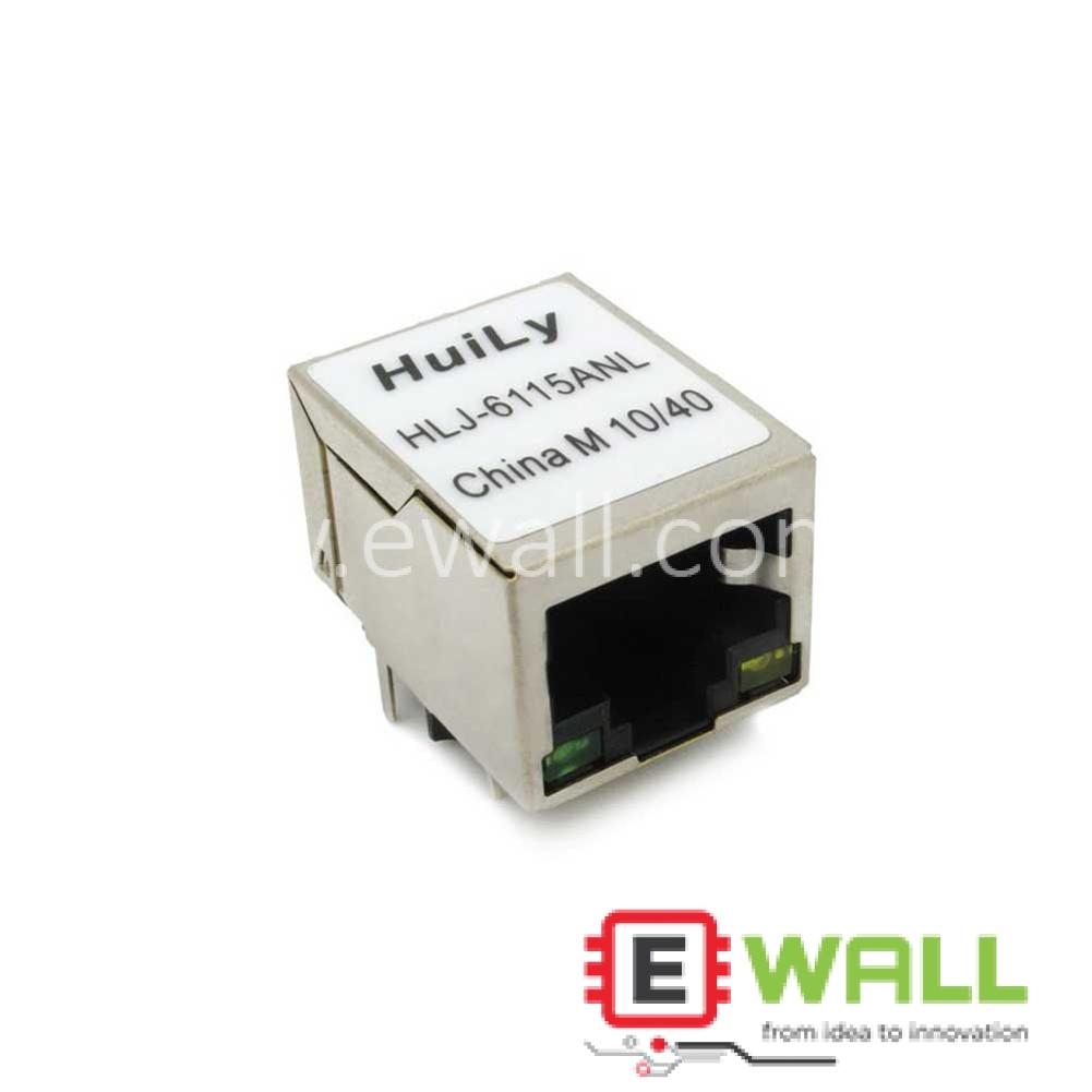 HLJ-6115ANL RJ45 CAT5 Ethernet Connector Socket with LED POE