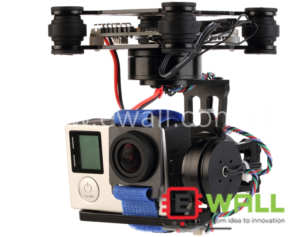 3Axis Stabilized Storm32  Brushless Motor PTZ Gopro Gimbal