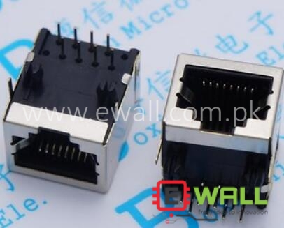 RJ45 Female socket 18.3MM 8P8C 58 network interface / network cable socket length 18* high 13mm