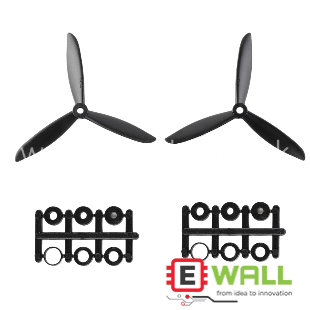 1 Pair 3-Blade 6045 Propeller Props CW/CCW For Quadcopter Multi-Copter (RED) 6x4.5