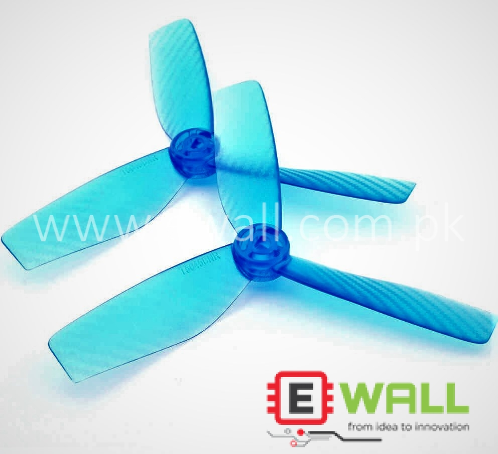 4 pcs T5045 5045 5x4.5 Bull Nose 3-Blade Tri-blade Plastic Propellers CCW CW for 250 RC FPV Drone Racing Quadcopter (Blue)