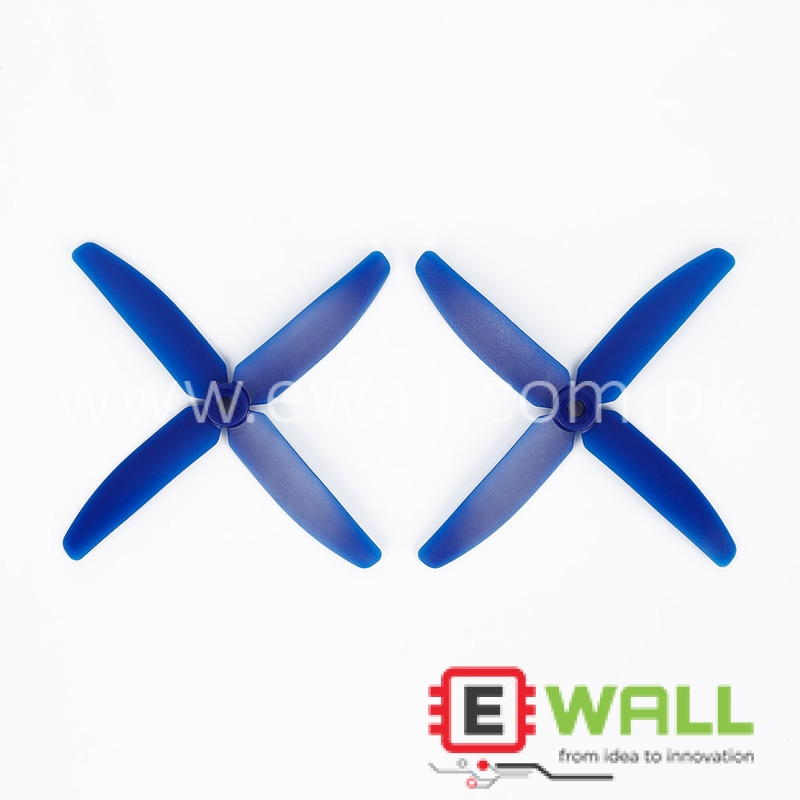 1 Pair OCDAY 5040 4-blade Props Propellers CCW CW For 250 Racing Quadcopter (Blue) 5x4