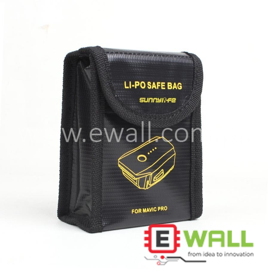 Lipo Battery Safe Bag for DJI Mavic Pro Fire Resistant Storage Protector Case