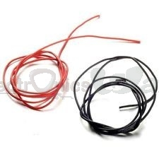 20AWG High Quality and Temperature silicone soft red and black Wire 30cm (Pair)