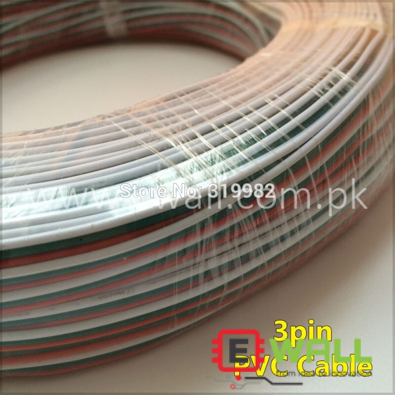 3pin Wire red green white Tinned Copper 3P 22AWG (1 meter)