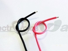 24AWG High Quality and Temperature silicone soft red and black Wire 30cm (Pair)