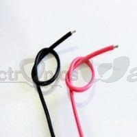 26AWG High Quality and Temperature silicone soft red and black Wire 30cm (Pair)