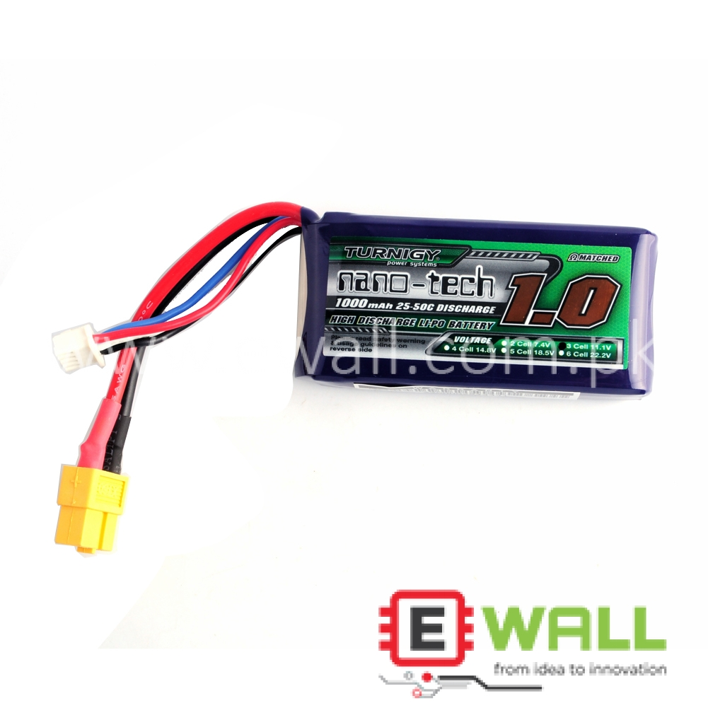 Turnigy Nano-Tech 3S 1000mAh 25-50c LiPO pack (XT-60 connector)