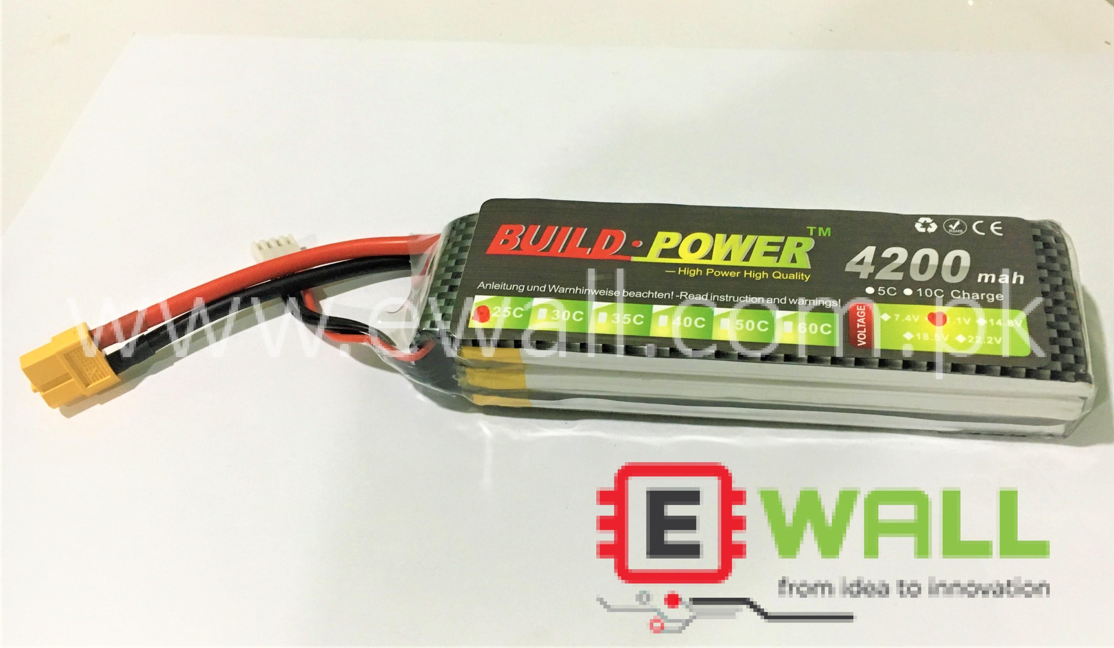 4200mah 25C 11.1V (3S) Lipo Battery